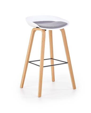 Halmar Barová židle H-86, šedá/bílá
