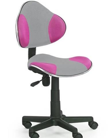Halmar Dětská židle Flash 2, šedá/růžová