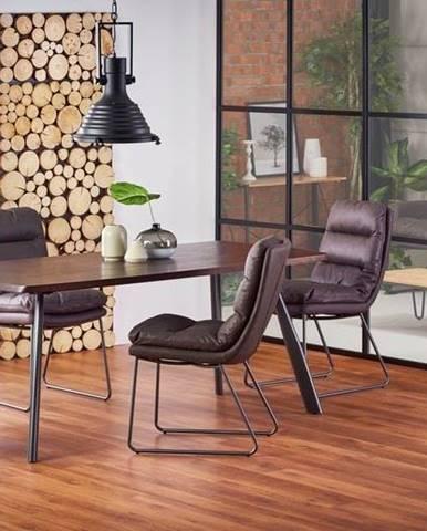 Halmar Jídelní stůl FIRMINO, tmavý ořech/grafit