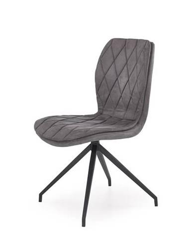 Halmar Jídelní židle K237, šedá
