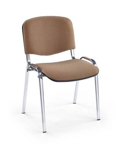 Halmar Konferenční židle Iso, chrom/béžové