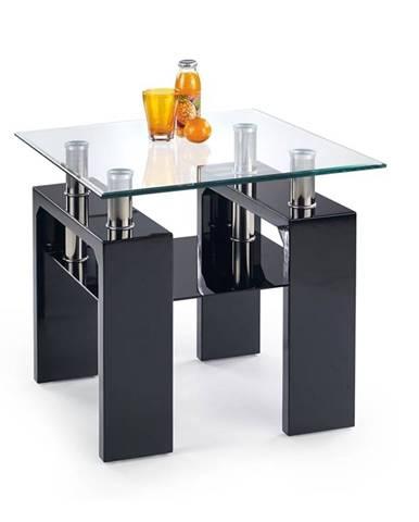Halmar Konferenční stolek DIANA H, čtvercový, sklo/černý