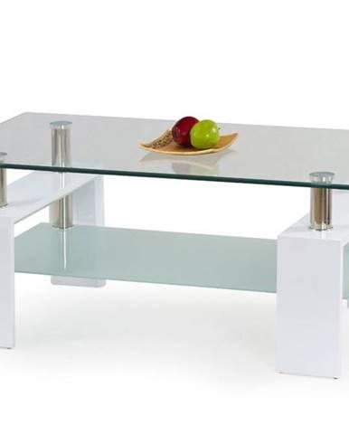 Halmar Konferenční stolek DIANA H, sklo/bílý