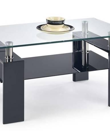 Halmar Konferenční stolek DIANA H, sklo/černý