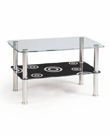 Halmar Konferenční stolek HALIA, sklo/černá