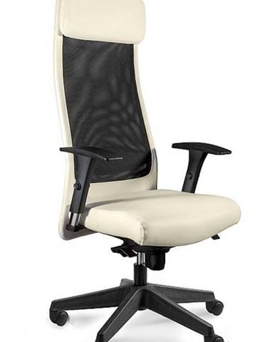 UNIQUE Kancelářské křeslo Ares Soft PU, béžová eko kůže
