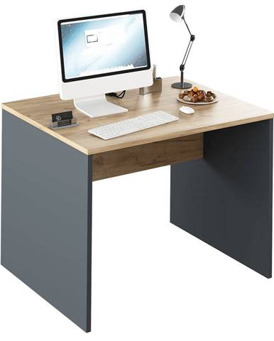Psací stůl Rioma New 12, grafit/dub artisan, 100 cm