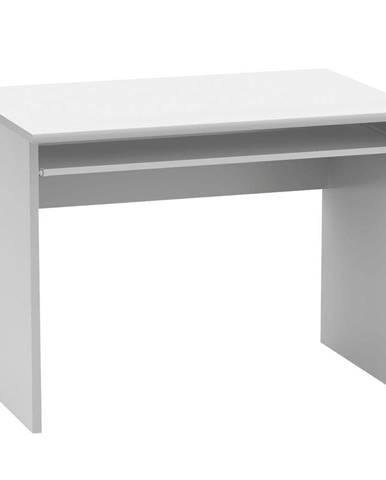 Tempo Kondela Psací stůl s výsuvem na klávesnici Johan 2 New 2, bílý, 100 cm