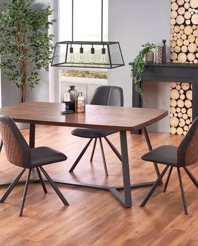 Halmar Jídelní stůl CARUZZO,ořechový dub/grafit