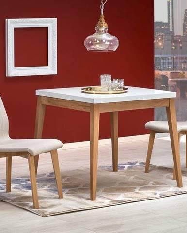 Halmar Jídelní stůl TRUMP, bílý/dub craft