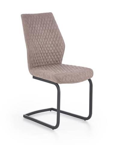 Halmar Jídelní židle K272, tmavě béžová DALLAS/eko kůže