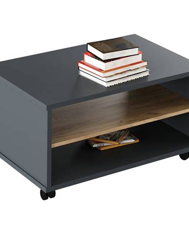 Tempo Kondela Konferenční stolek Rioma New 32, grafit/dub artisan