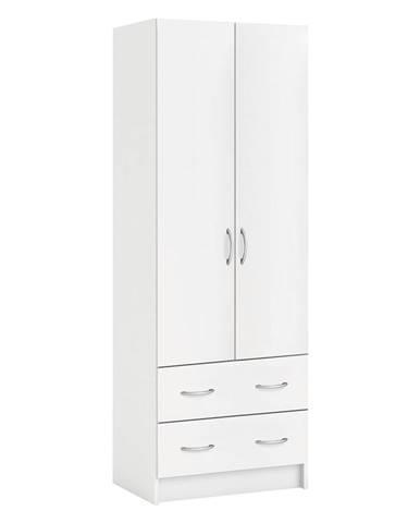 Skříň policová 2 dveře + 2 zásuvky BEST bílá