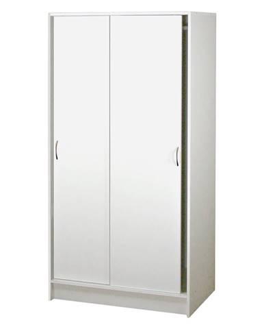 Skříň s posuvnými dveřmi BEST bílá