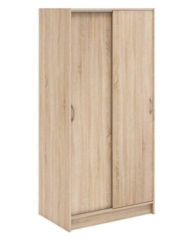 Skříň s posuvnými dveřmi BEST dub