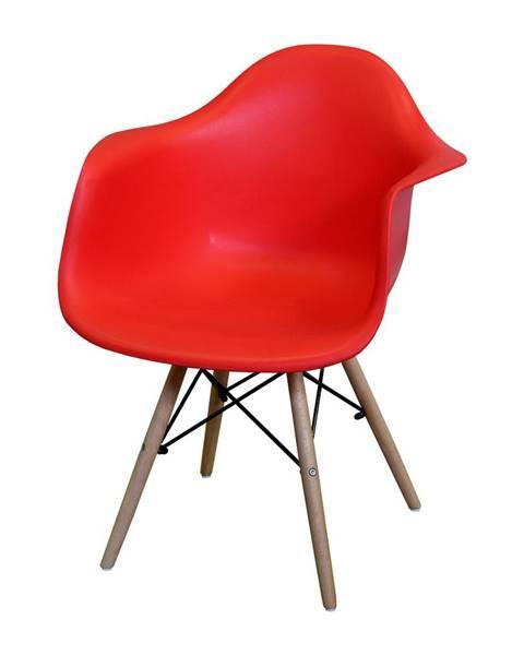 IDEA Nábytek Jídelní židle DUO červená