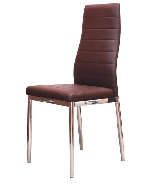 IDEA Nábytek Jídelní židle MILÁNO hnědá