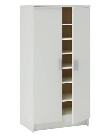 Botník 2 dveře bílá