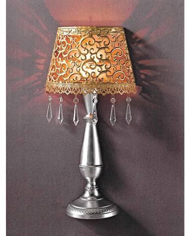 Nástěnná dekorativní kovová lampa zlatá/stříbrná