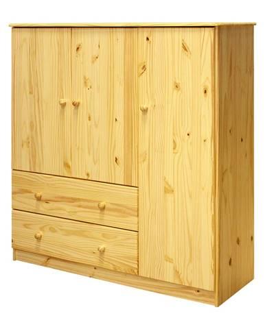Prádelník 3 dveře + 2 zásuvky