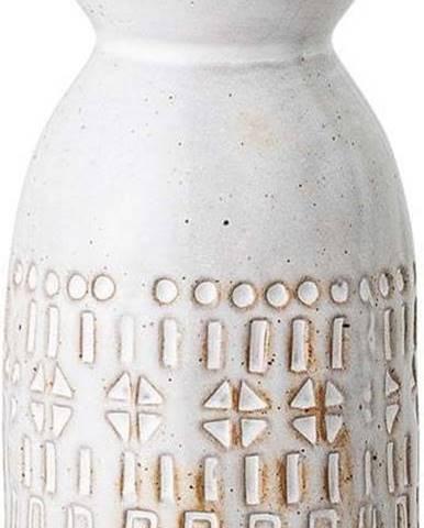 Bílá váza z kameniny Bloomingville Geometric