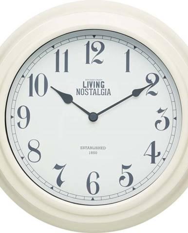 Krémové nástěnné hodiny Kitchen Craft Living Nostalgia, ⌀ 25,5cm