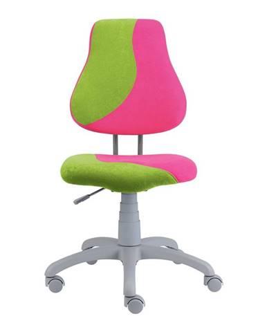 Dětská židle FUXO S, růžová/zelená