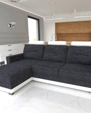 Rohová sedačka COVER, levá, černá/bílá