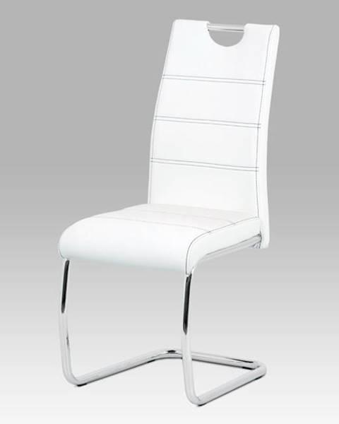 Smartshop Jídelní židle HC-481 WT, bílá/chrom