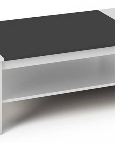 BERN konferenční stolek, bílá/černá