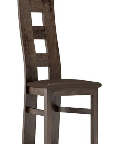 Čalouněná židle TADEÁŠ, jasan tmavý/Victoria 36