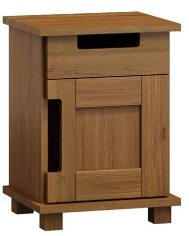 Noční stolek MODERN NR 5, masiv borovice, moření: dub