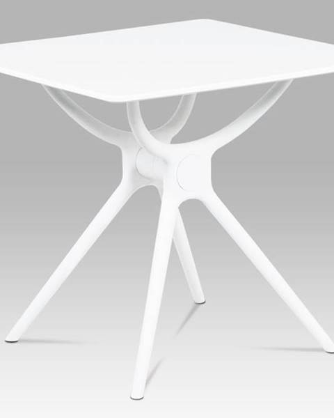 Smartshop Jídelní stůl 80x80, bílá MDF, plast bílý SDT-751 WT