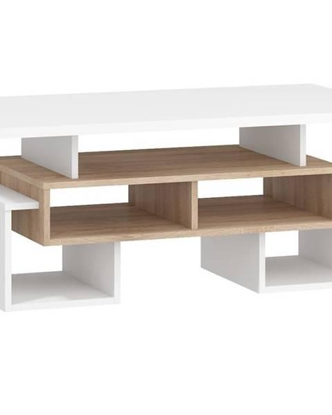 MORAVIA FLAT Konferenční stolek S RIO 12, dub sonoma/bílá