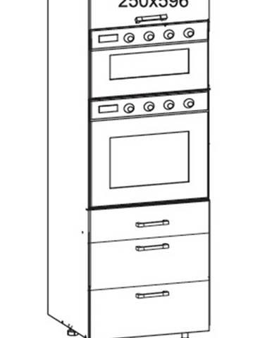 IRIS vysoká skříň DPS60/207 SAMBOX O, korpus šedá grenola, dvířka ferro