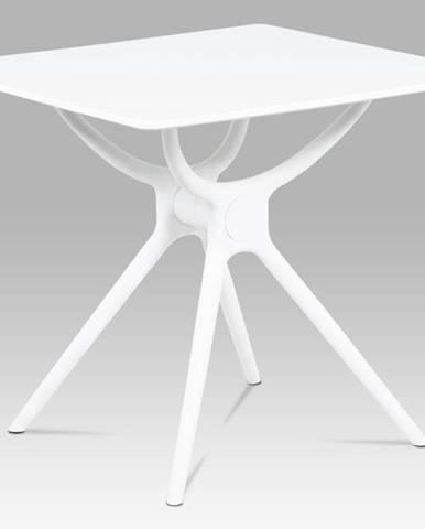 Jídelní stůl 80x80, bílá MDF, plast bílý SDT-751 WT