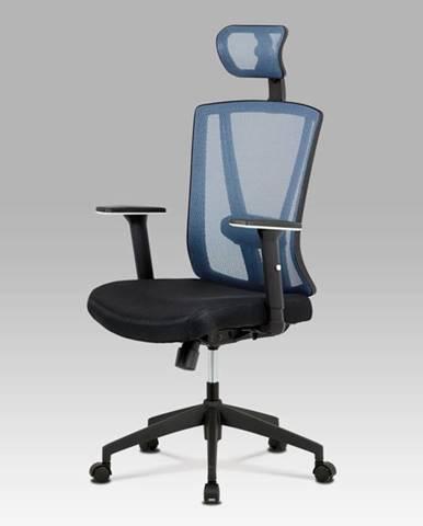 Kancelářská židle KA-H110 BLUE, černá/modrá
