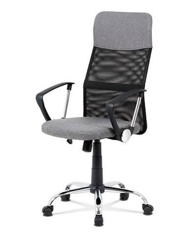 Kancelářská židle KA-V204 GREY, šedá/černá