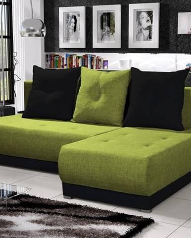 Rohová sedačka INSIGNIA 4, zelená/černá