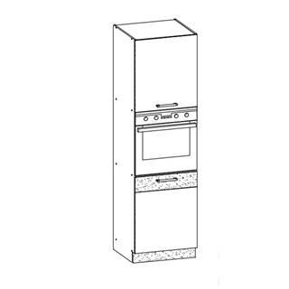 MODENA, vysoká skříňka D60P, buk