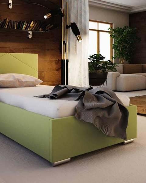 Smartshop Čalouněná postel SOFIE 5 80X200 cm, zelená látka