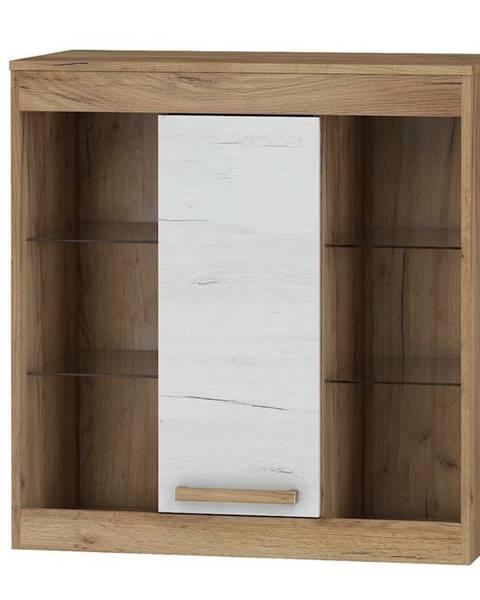 MORAVIA FLAT Závěsná skříňka 1D MAXIMUS 40, craft zlatý/craft bílý