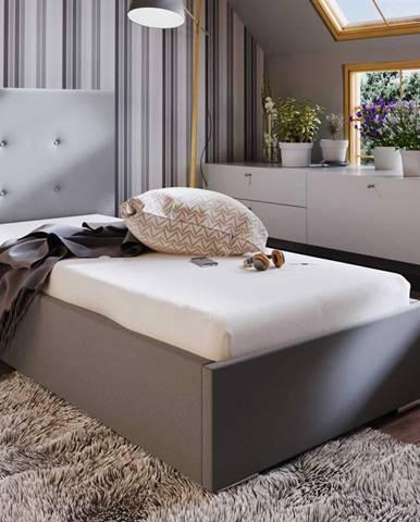 Čalouněná postel SOFIE 1 80X200 cm, béžová látka