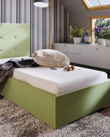 Čalouněná postel SOFIE 1 80X200 cm, zelená látka
