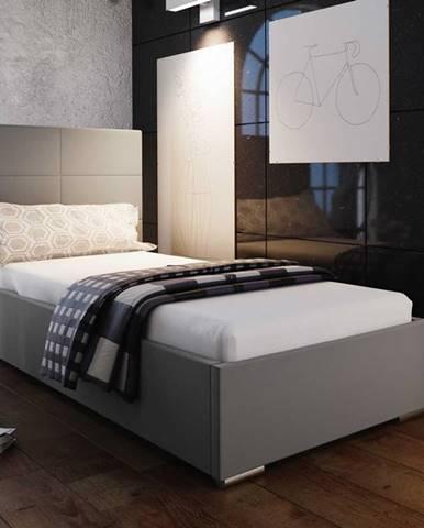 Čalouněná postel SOFIE 4 90x200 cm, béžová látka