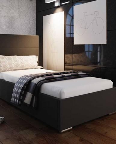 Čalouněná postel SOFIE 4 90x200 cm, černá látka