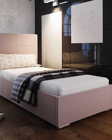 Čalouněná postel SOFIE 4 90x200 cm, růžová látka