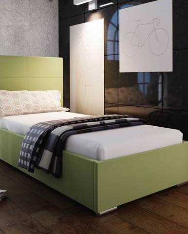 Čalouněná postel SOFIE 4 90x200 cm, zelená látka