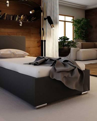 Čalouněná postel SOFIE 5 80X200 cm, černá látka