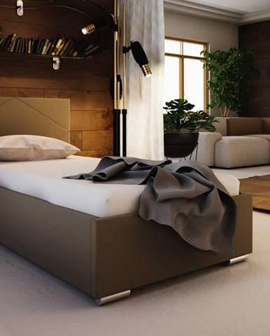 Čalouněná postel SOFIE 5 80X200 cm, hnědá látka